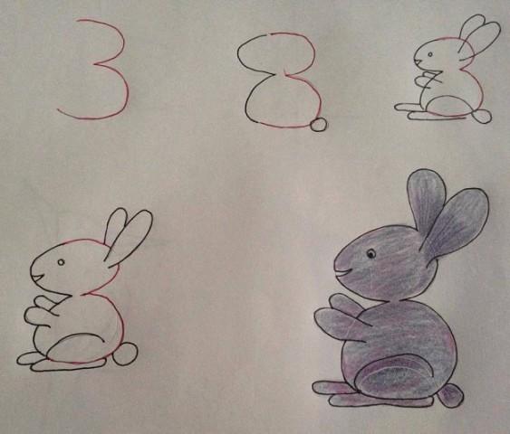 рисуем с детками цифрами))